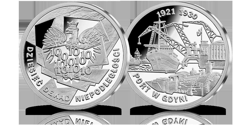 srebrny-medal-10-dekad-niepodleglosci-1921-1930-port-w-gdyni