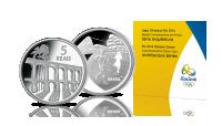 Oficjalna srebrna moneta olimpijska Rio 2016 - architektura