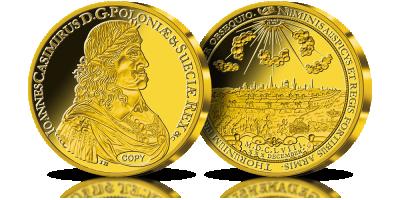 Moneta Jana Kazimierza warta ponad milion złotych na replice z cennego złota