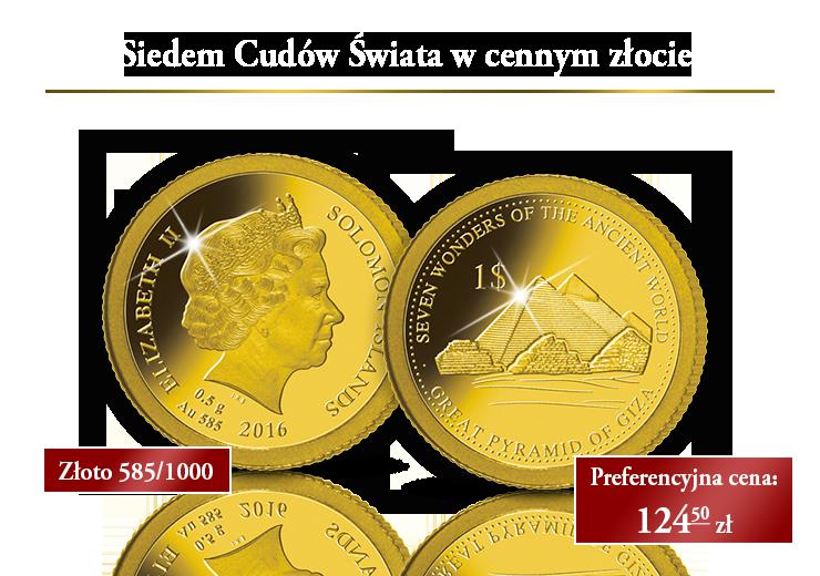 Arcydzieła świata starożytnego uwiecznione w cennym złocie!
