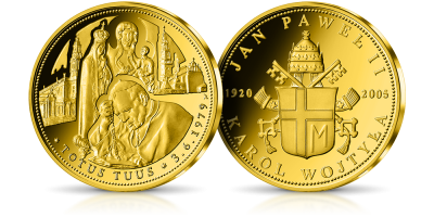 TOTUS TUUS Zawierzenie Maryi na medalu z cennego złota
