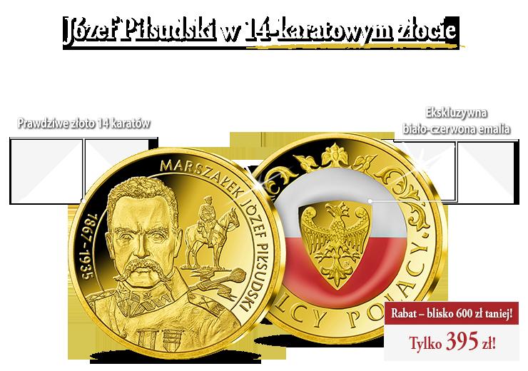 Wielcy Polacy na złotych medalach zdobionych emalią w barwach narodowych!