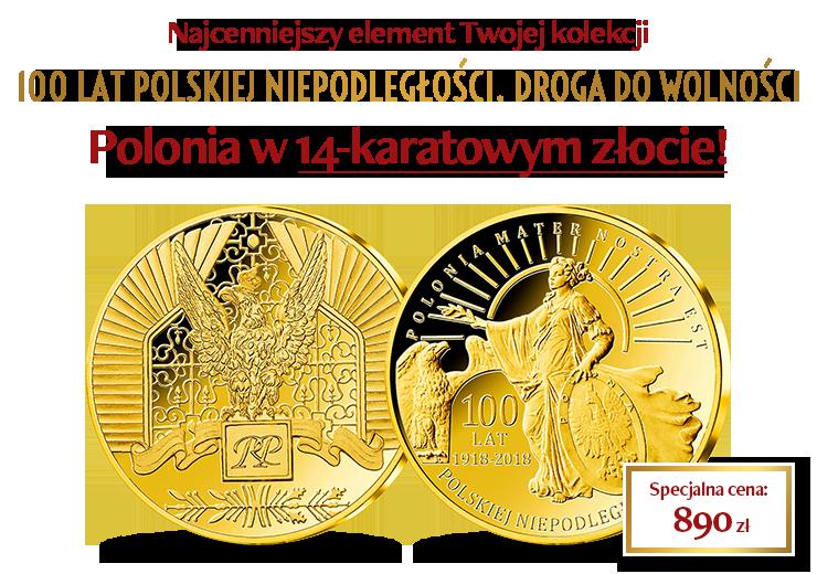 """""""Polonia"""" w cennym 14-karatowym złocie"""