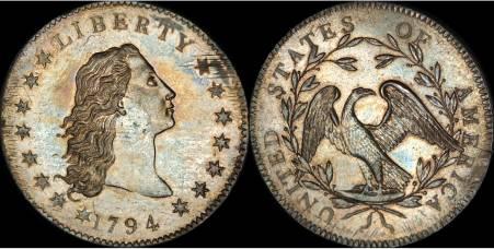 Najdroższa moneta świata  Flowing Hair Liberty