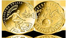 Polska na mistrzostwach świata w Rosji Uszlachetniony złotem medal pamiątkowy