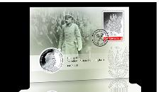 Oficjalny znaczek 100 lat – unikatowy datownik – pamiątkowy srebrny medal!