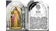 Jezu Ufam Tobie - cudowny obraz na oficjalnej srebrnej monecie