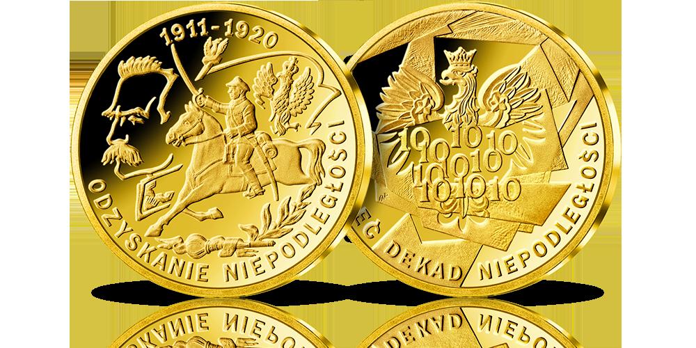 zloty-medal-10-dekad-niepodleglosci-pilsudski