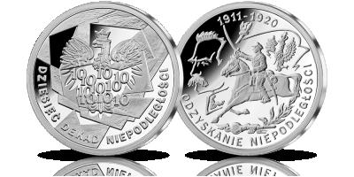 10 Dekad Niepodległości w srebrze