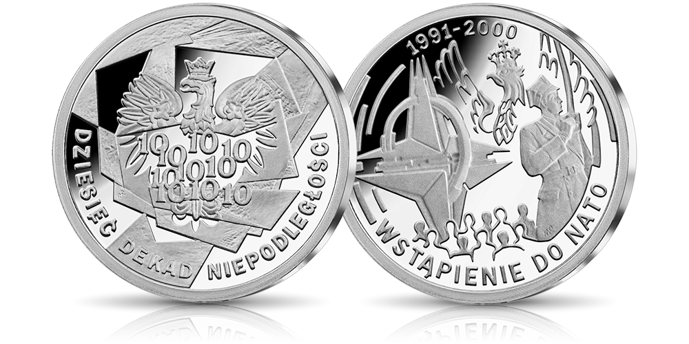 srebrny-medal-10-dekad-niepodleglosci-1991-2000-wstapienie-do-nato