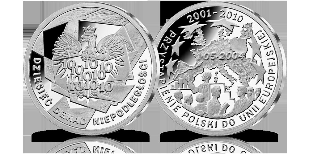 srebrny-medal-10-dekad-niepodleglosci-2001-2010-przystapienie-do-unii-europejskiej