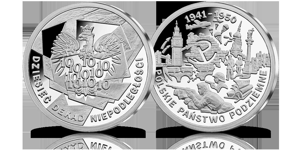 Polskie Państwo Podziemne - srebrny medal