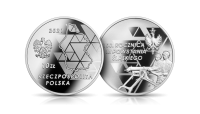 III powstanie śląskie na srebrnej monecie NBP.