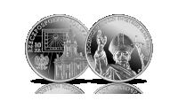 100. rocznica urodzin Jana Pawła II na srebrnej monecie NBP.