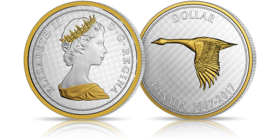 Gęś kanadyjska - symbol Kanady upamiętniony w aż 5 uncjach czystego srebra