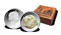 Most Karola na srebrnej monecie o wadze aż 5 uncji! Pudełko kolekcjonerskie GRATIS