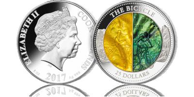 200. rocznica powstania roweru na srebrnej monecie z masą perłową