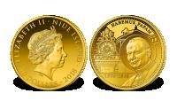 Jan Paweł II na monecie z czystego złota