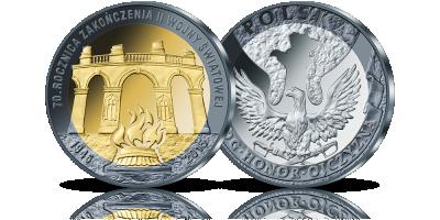 70. rocznica zakończenia II wojny światowej w trzech kolorach srebra