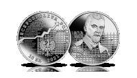 Adam Krzyżanowski na srebrnej monecie NBP.