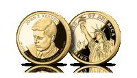 Amerykańskie dolary prezydenckie platerowane czystym złotem John. F. Kennedy Statua Wolności 1 dolar