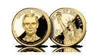 Amerykańskie dolary prezydenckie platerowane czystym złotem Abraham Lincoln Statua Wolności 1 dolar