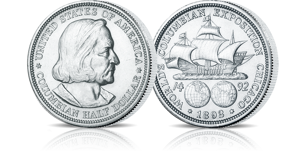 Amerykańska srebrna moneta Columbian Expo