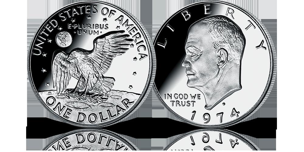 Amerykańska srebrna moneta Eisenhower