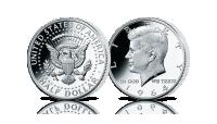 Amerykańska srebrna moneta John F. Kennedy