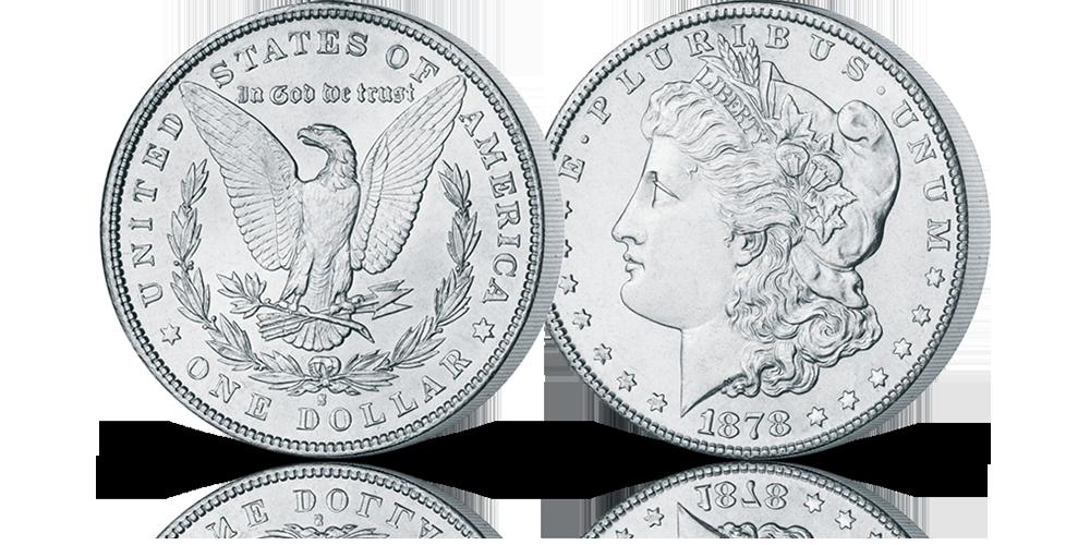 Amerykańska srebrna moneta Morgan