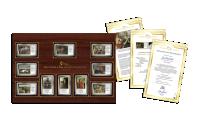 Zestaw numizmatow oraz certyfikaty