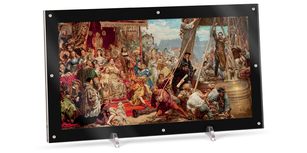 Zawieszenie dzwonu Zygmunta - największa whistorii moneta z obrazem Jana Matejki