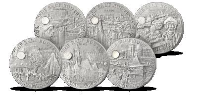 Aż 6 srebrnych monet upamiętniających historyczny Szlak Solny