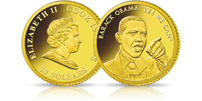 44. prezydent Stanów Zjednoczonych uwieczniony w złocie