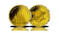 Basilique Sacré Coeur Bazylika Najświętszego Serca Jezusowego na złotej monecie