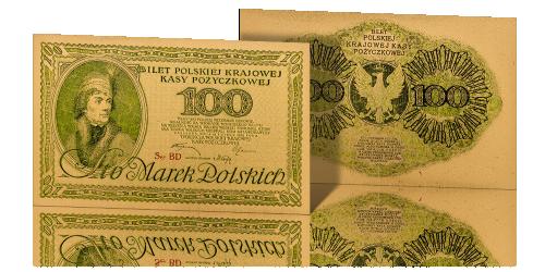 baknot-100-marek-polskich-replika-pokryta-zlotem