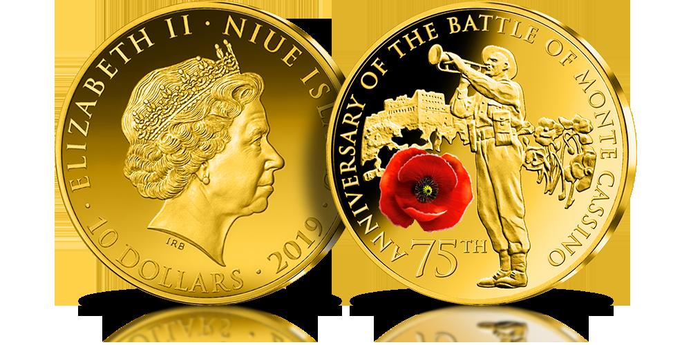75. rocznica bitwy o Monte Cassino upamiętnionana oficjalnej złotej monecie