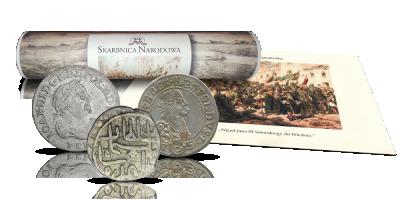 Bitwa pod Wiedniem 1683 - wiktoria Jana III Sobieskiego w zestawie 3 historycznych srebrnych monet
