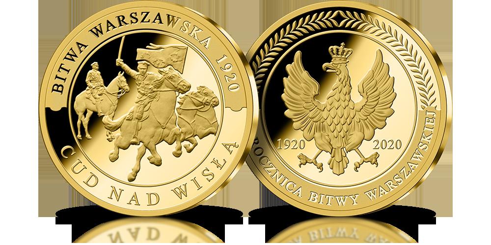 Złoty medal Bitwa Warszawskaj 1920