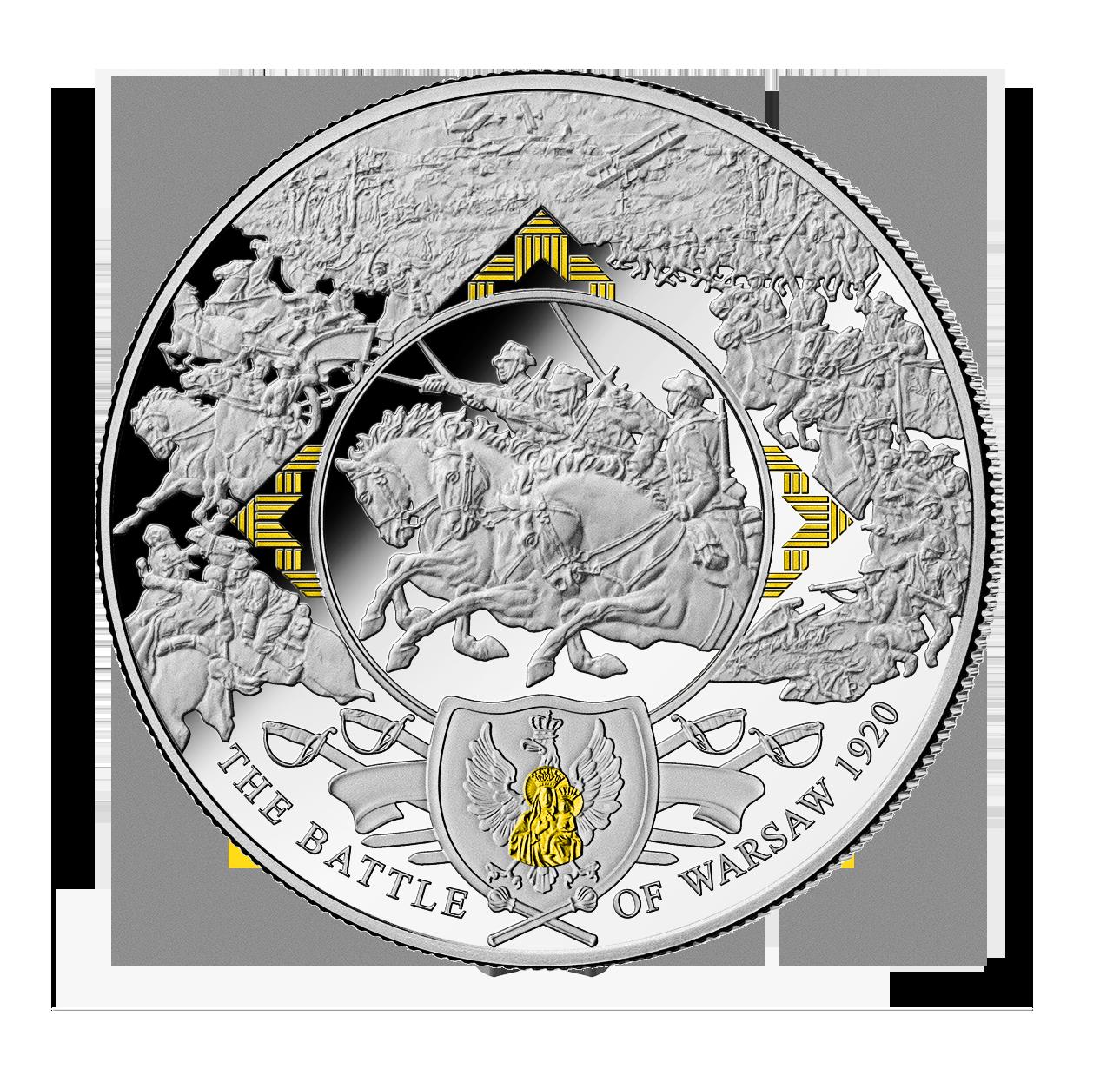 Bitwa Warszawska 1920 na srebrnej monecie o wadze aż 0,5 kg!