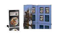 Folder kolekcji oraz medal w kapsule