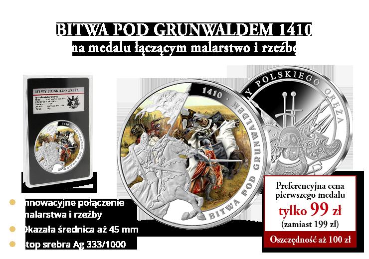 """""""Bitwa pod Grunwaldem"""" po raz pierwszy na medalu łączącym malarstwo i rzeźbę"""