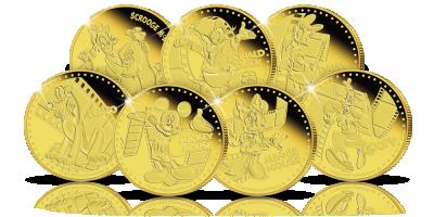 Bohaterowie Disneya na oficjalnych złotych monetach