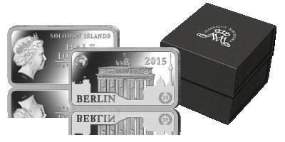 Brama Brandenburska w Berlinie na oficjalnej srebrnej monecie