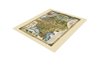 mapa rosji za panowania cara mikołaja ii kolorowa kopia