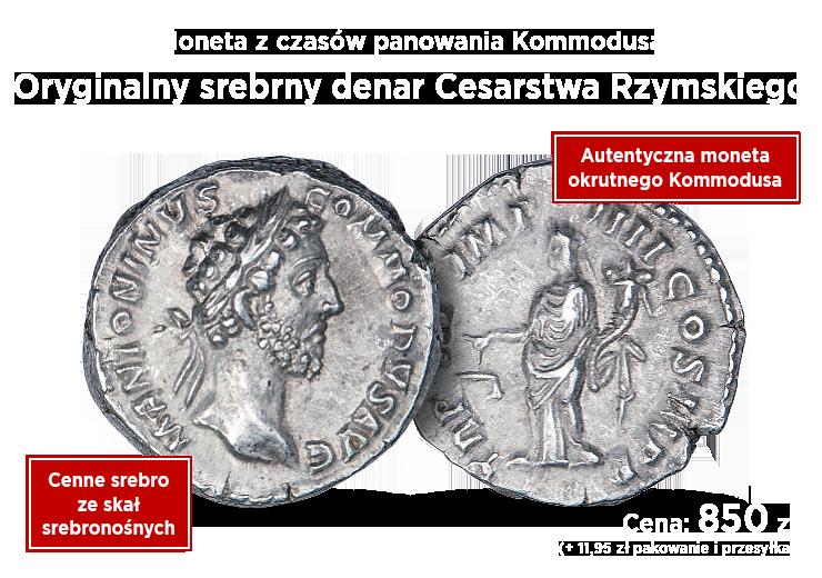 Srebrny denar cesarza Kommodusa