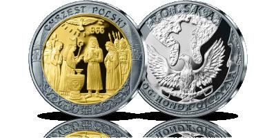 Chrzest Polski w 3 Kolorach Srebra