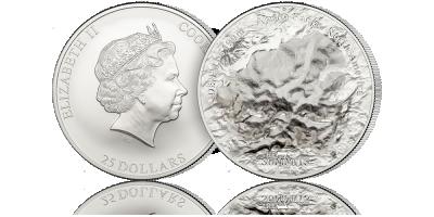 Denali - najwiekszy szczyt Ameryki Północnej uwieczniony w czystym srebrze