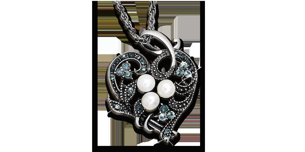 Elegancki wisiorek w kształcie serca