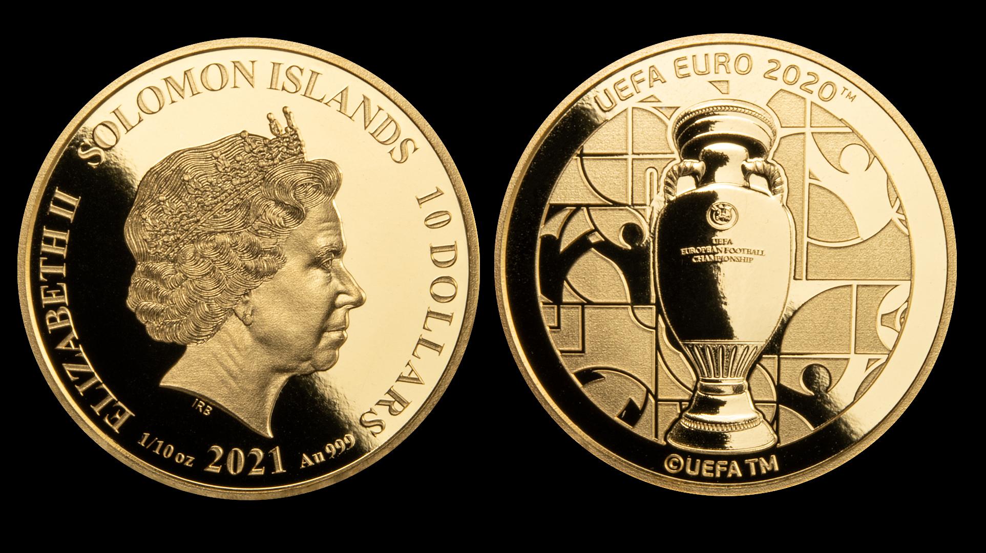 oficjalna moneta EURO 2020 czyste złoto